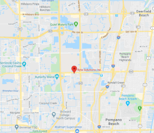 Byte Solutions Computer Support Pompano Beach Florida Map 2450 W Sample Rd